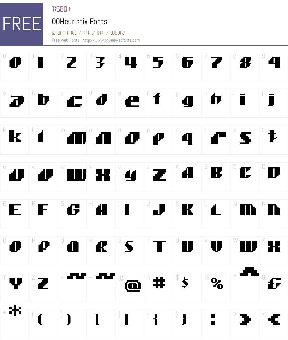 00Heuristix Font Screenshots