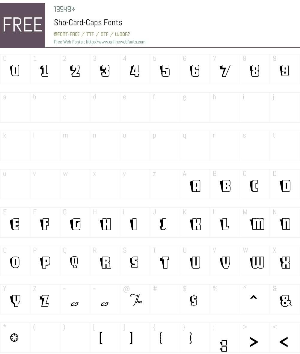 Sho-Card-Caps Font Screenshots