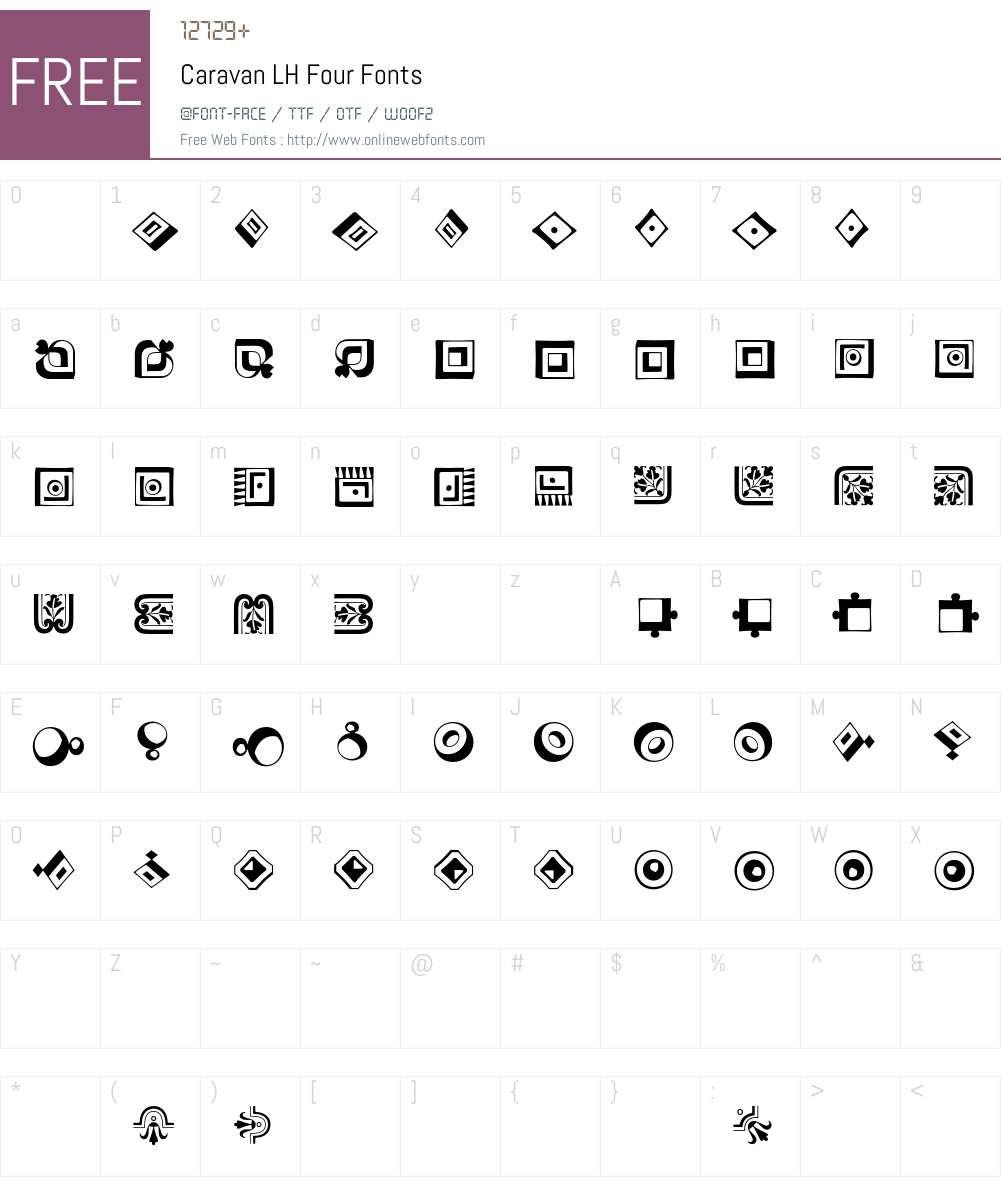 Caravan LH Font Screenshots