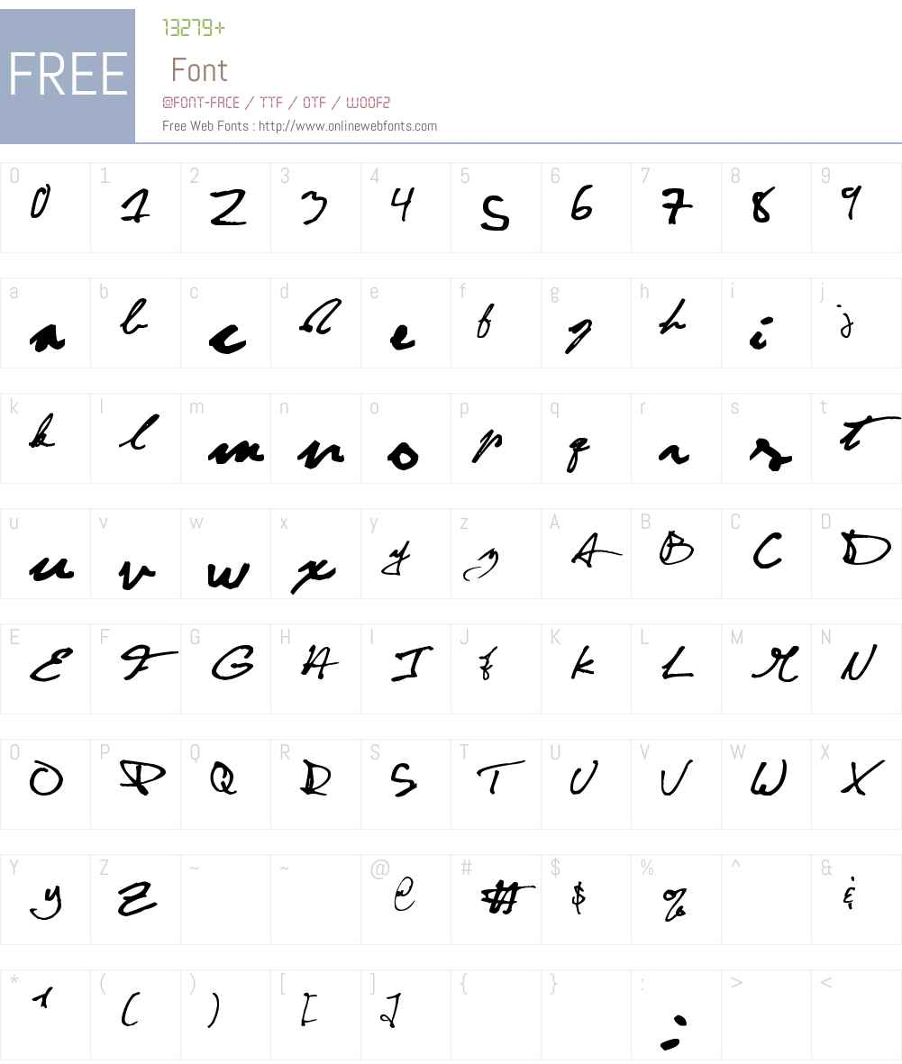 CuttyFruty Font Screenshots