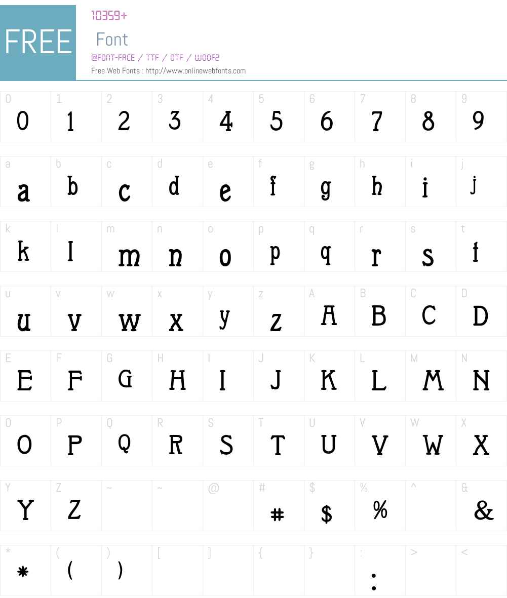 Medina Font Screenshots