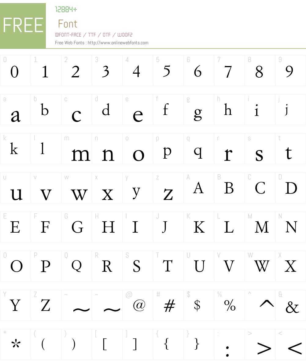 Italian Garamond Font Screenshots
