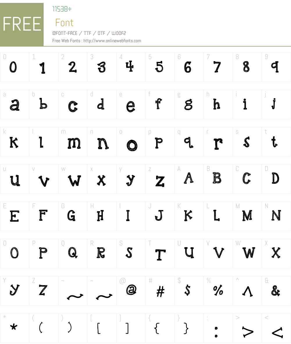 KBREINDEERGAMES Font Screenshots