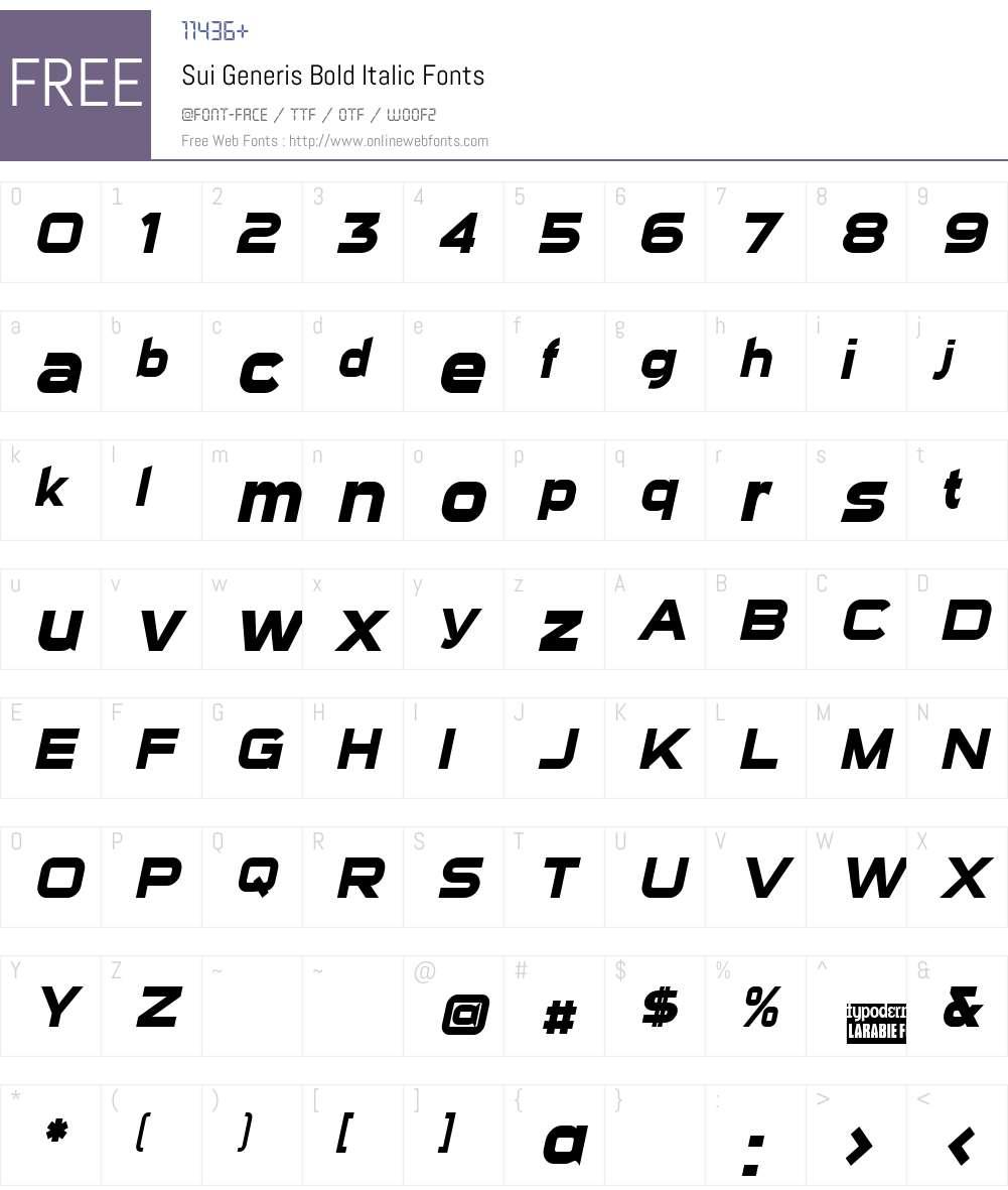 Sui Generis Font Screenshots