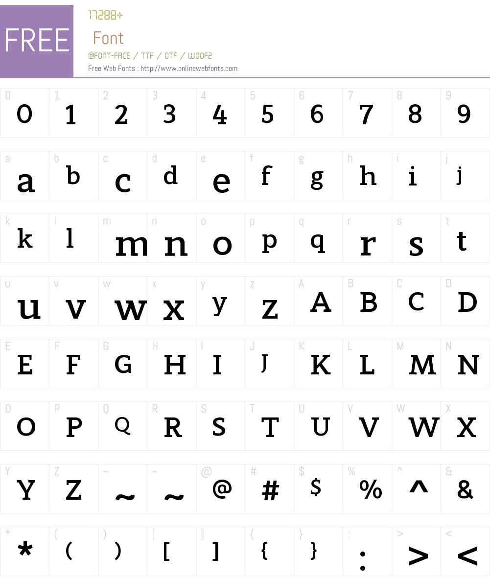 ModumW00-Bold Font Screenshots