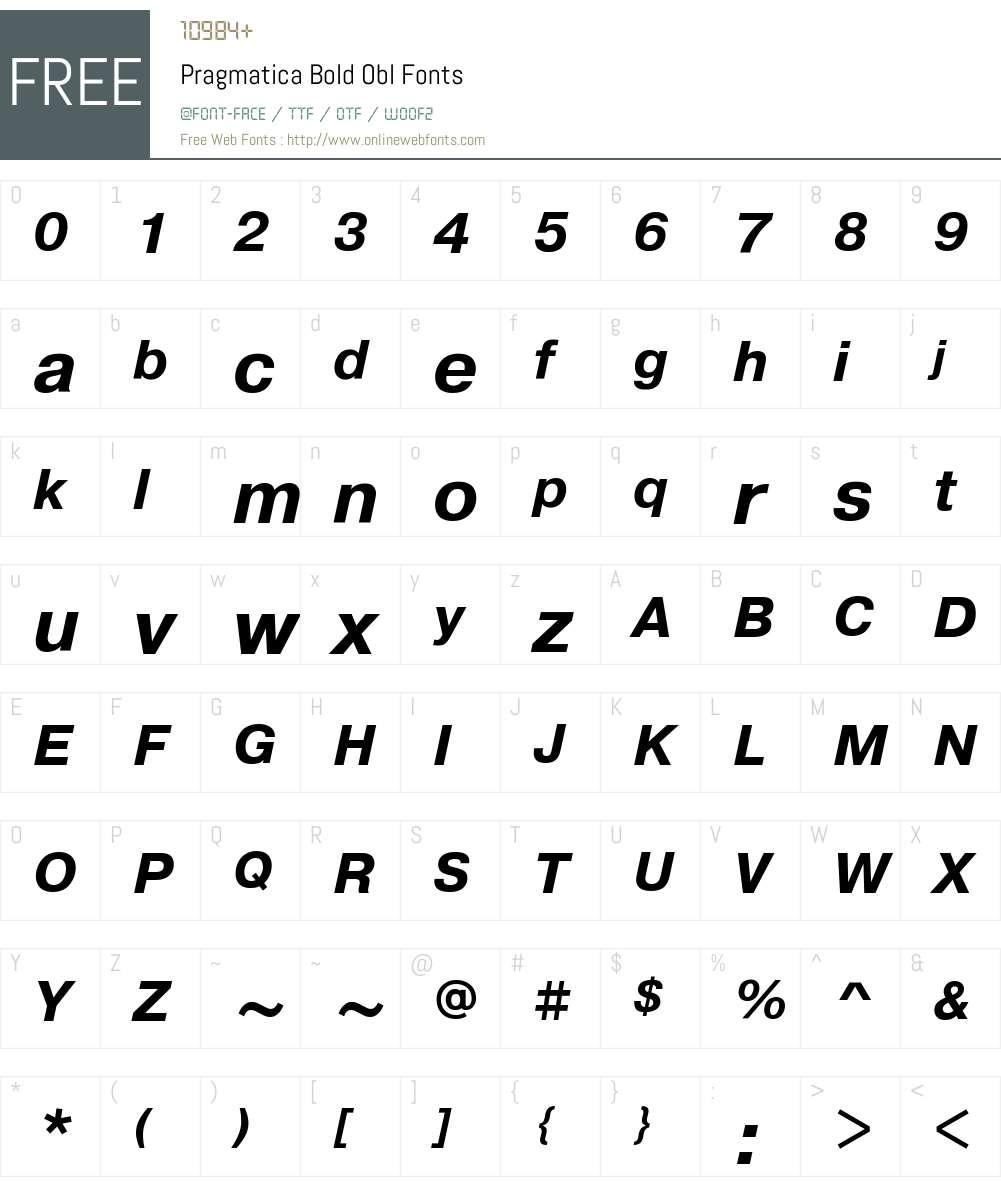 Pragmatica Bold Font Screenshots
