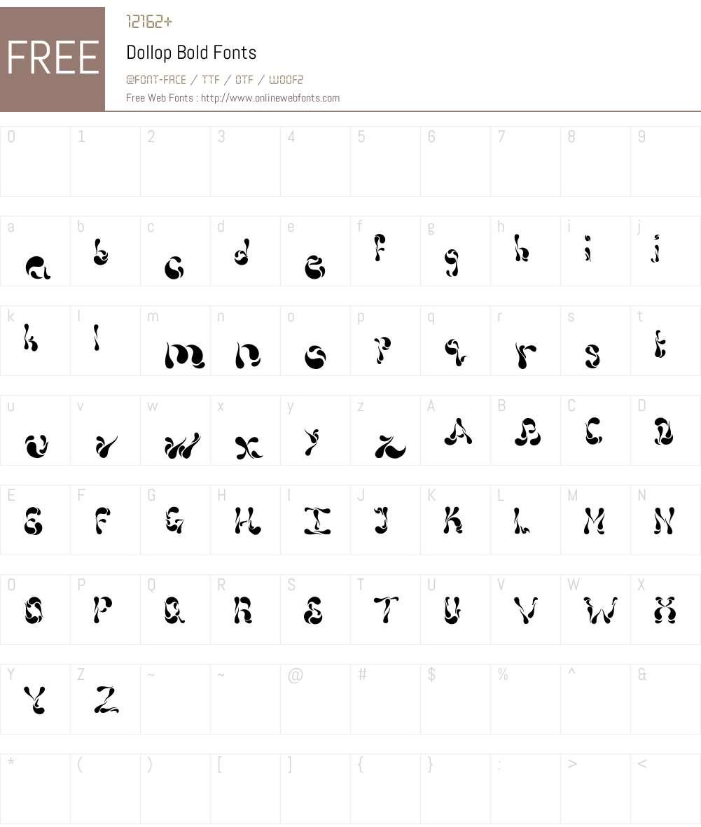 Dollop Font Screenshots