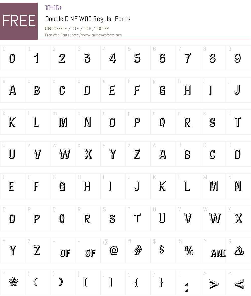 DoubleDNFW00-Regular Font Screenshots