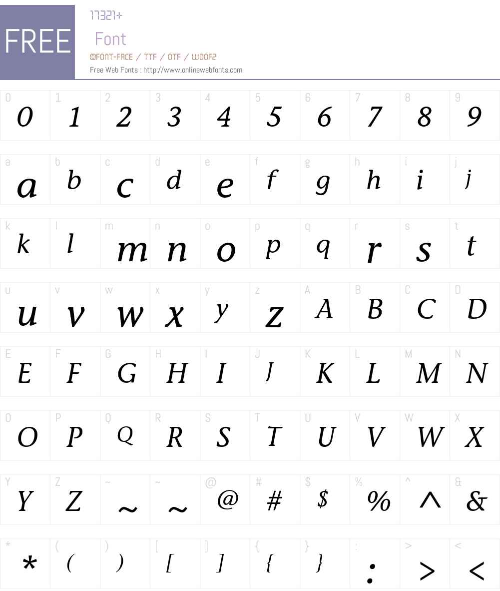 StoneInfITC Font Screenshots