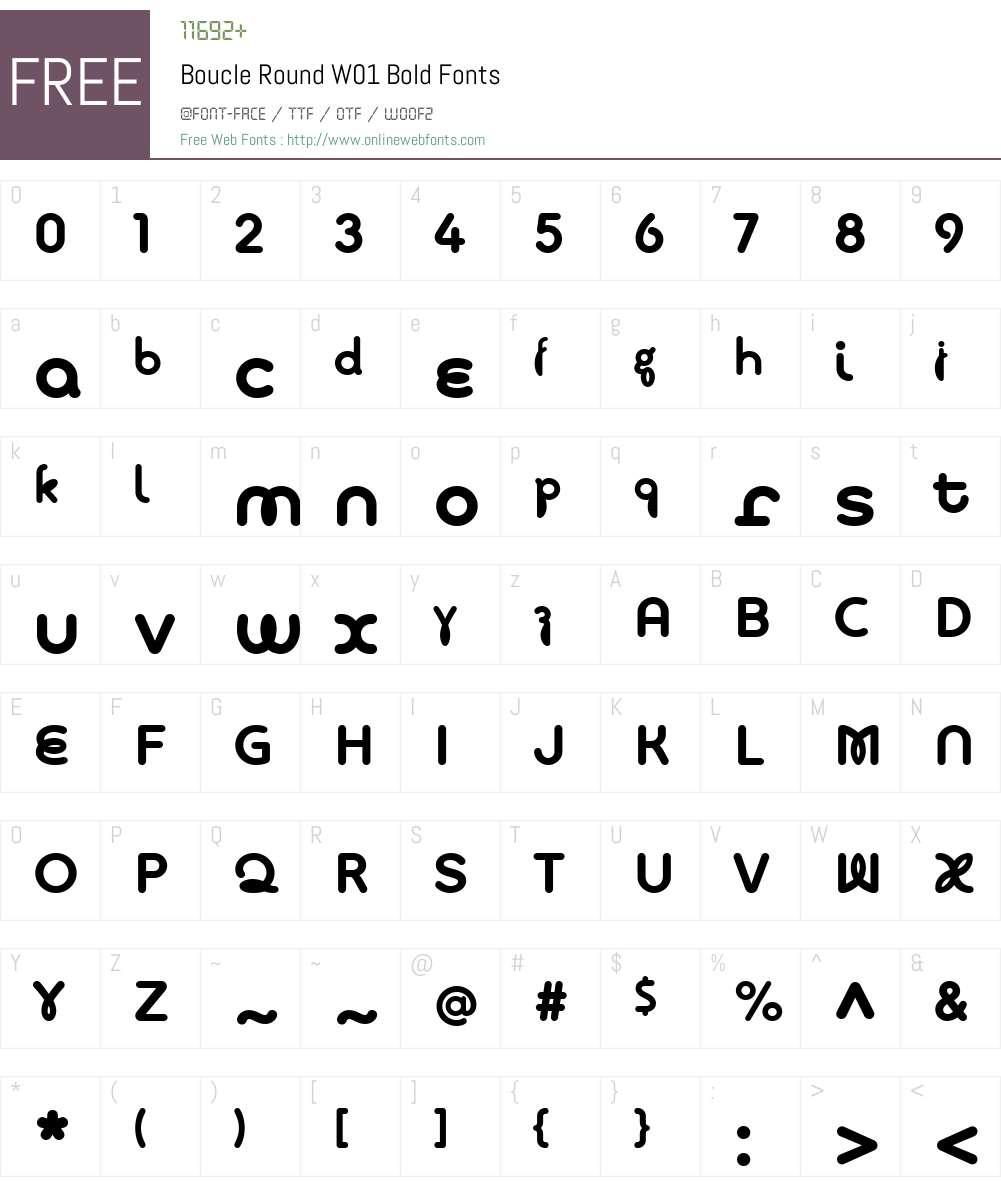 BoucleRoundW01-Bold Font Screenshots