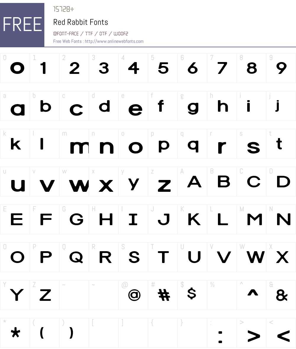 Red Rabbit Font Screenshots