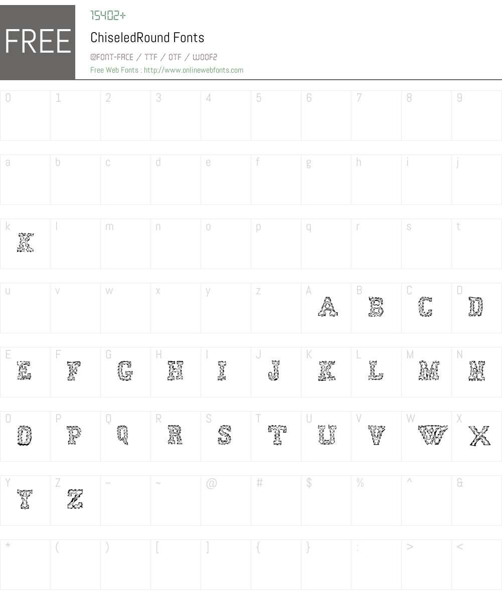 ChiseledRound Font Screenshots