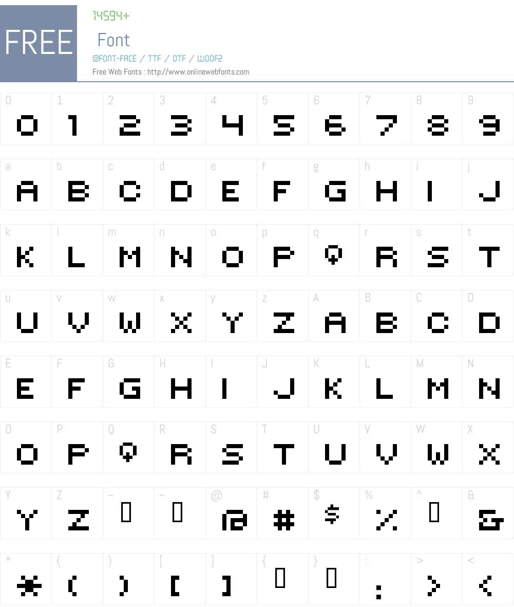 HILOGINCON Font Screenshots