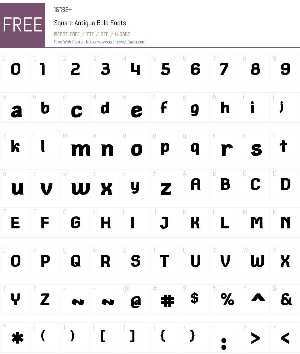 Square Antiqua Font Screenshots