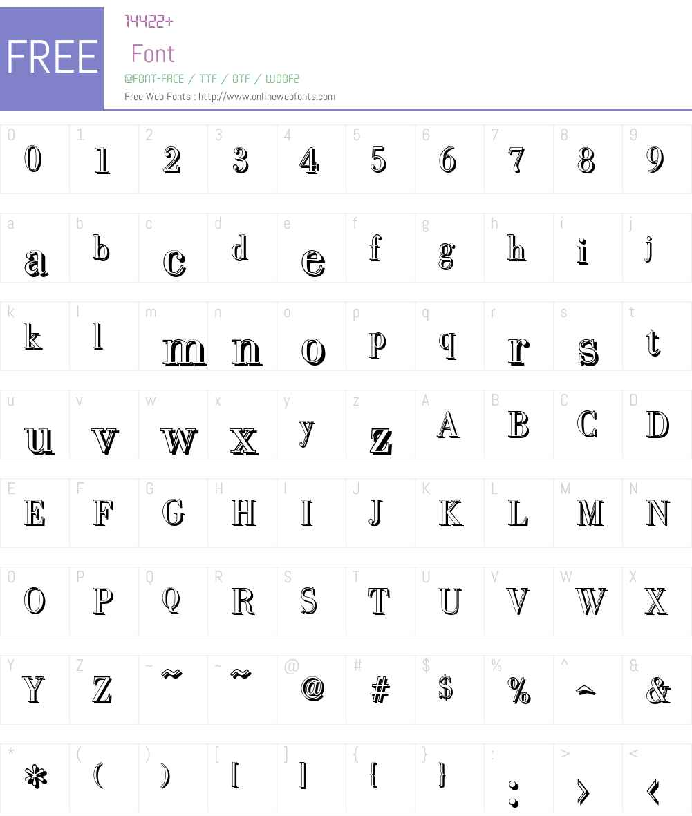 BodoniShadow-Light Font Screenshots