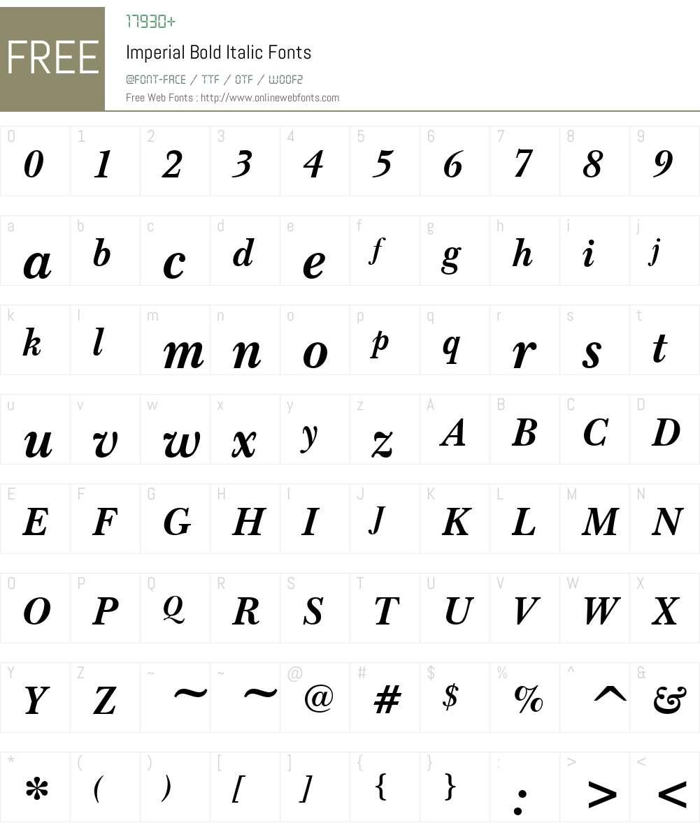 Imperial Font Screenshots