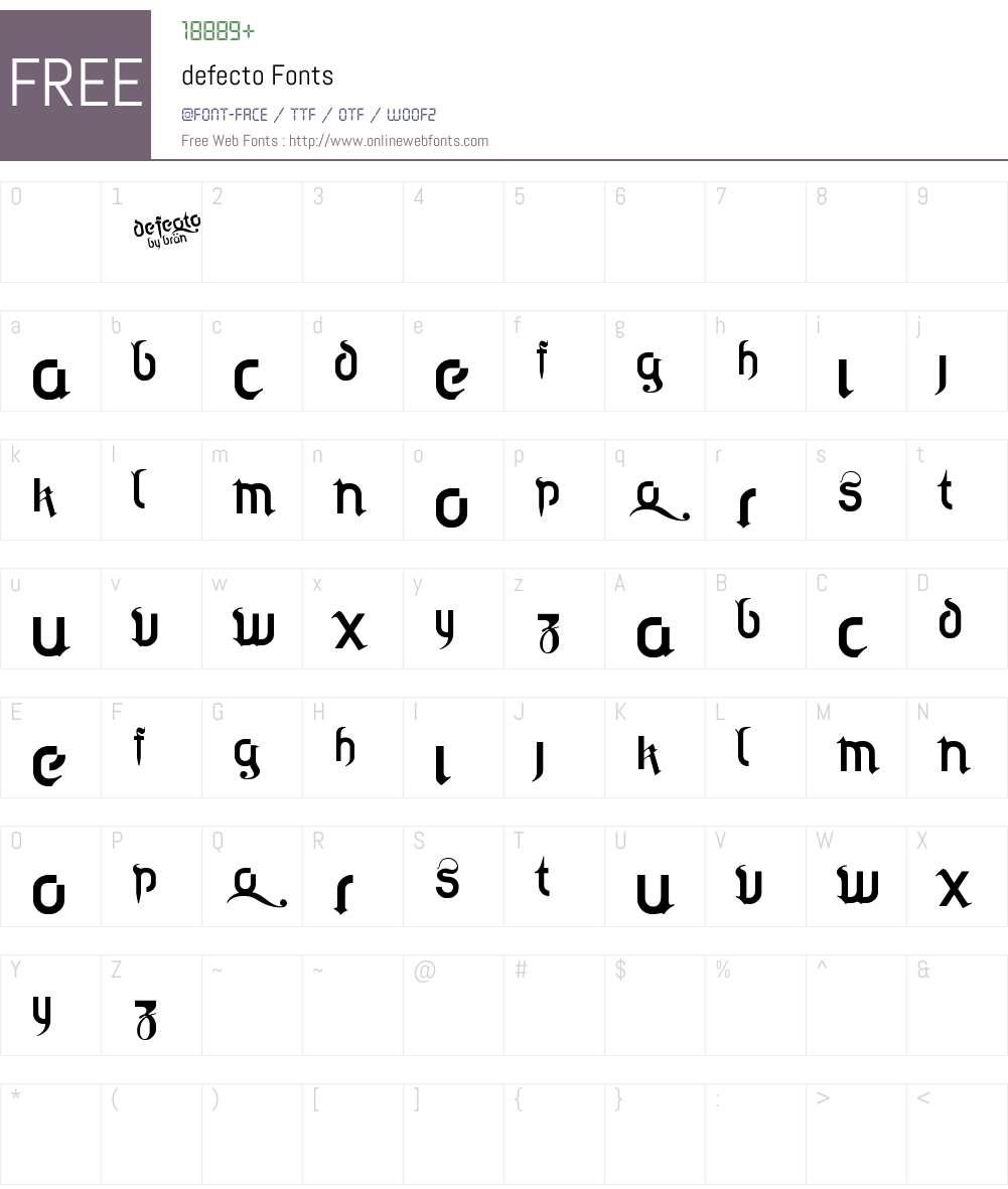 defecto Font Screenshots