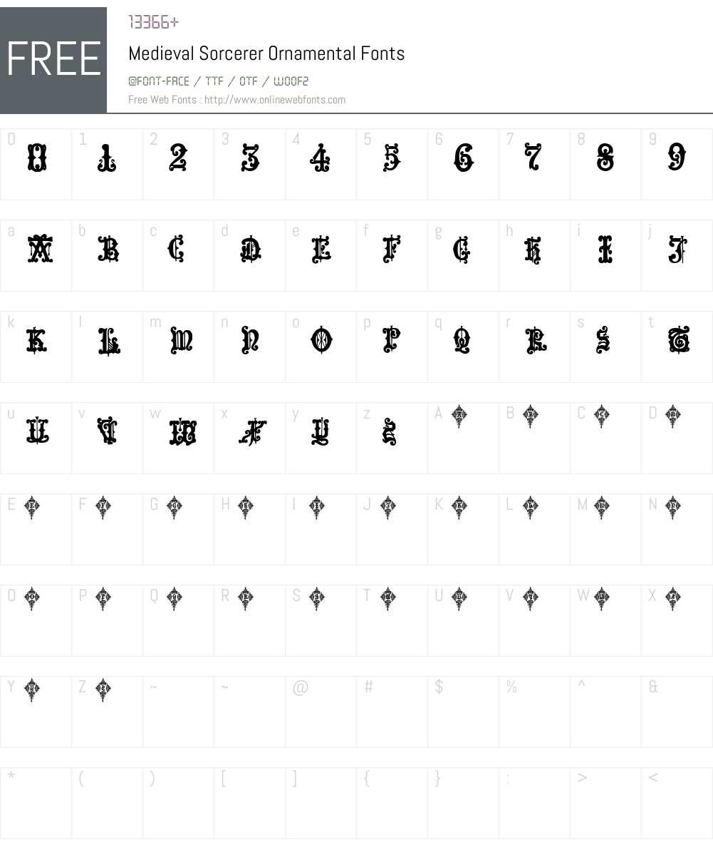 Medieval Sorcerer Ornamental Font Screenshots