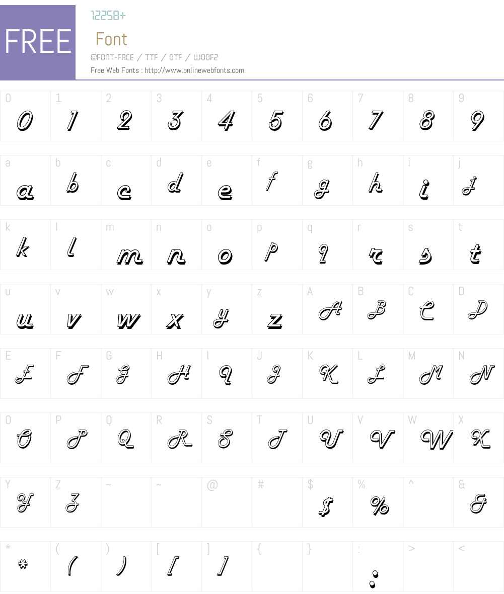 HarlowEF Font Screenshots