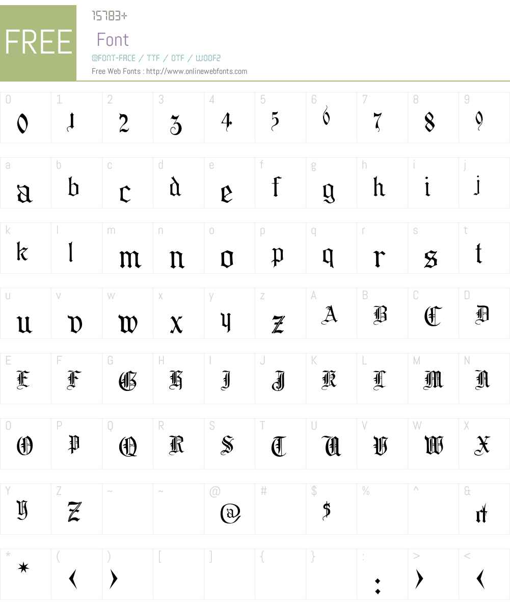 CollinsOldEnglish Font Screenshots