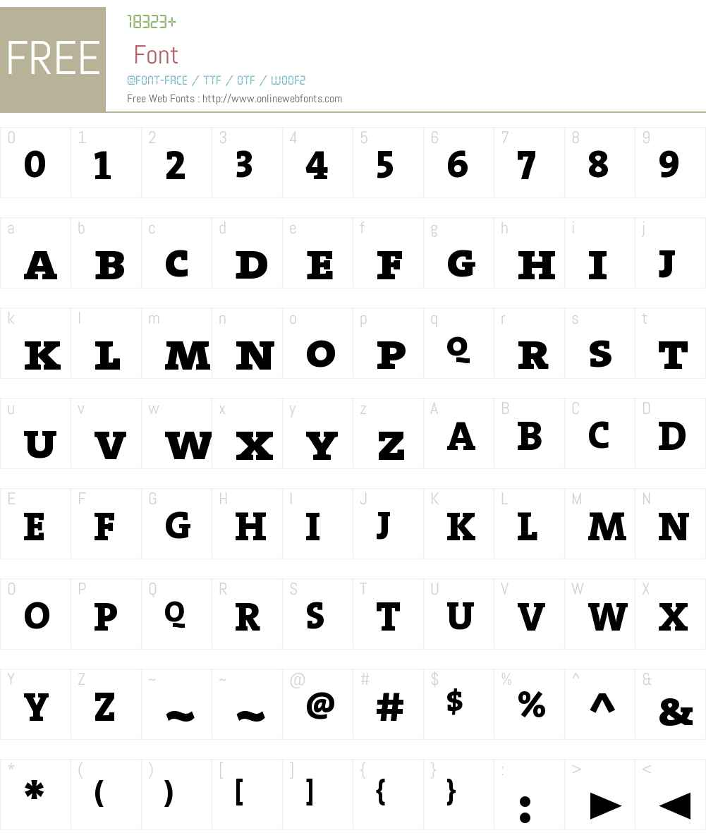 The Serif Extra Bold- Font Screenshots