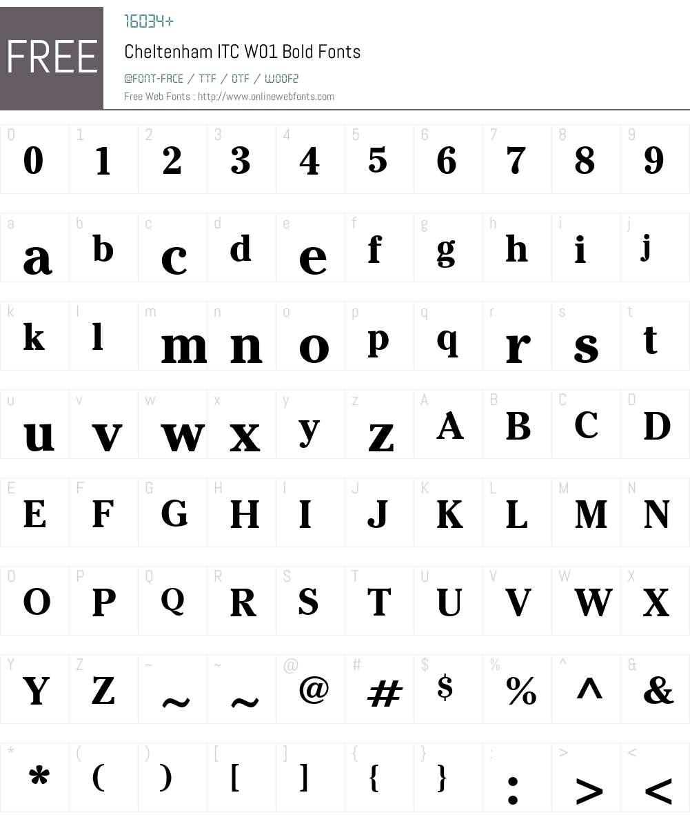 CheltenhamITCW01-Bold Font Screenshots