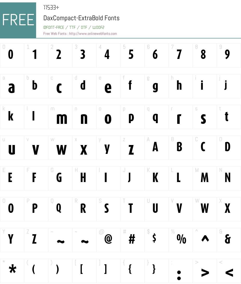 DaxCompact-ExtraBold Font Screenshots