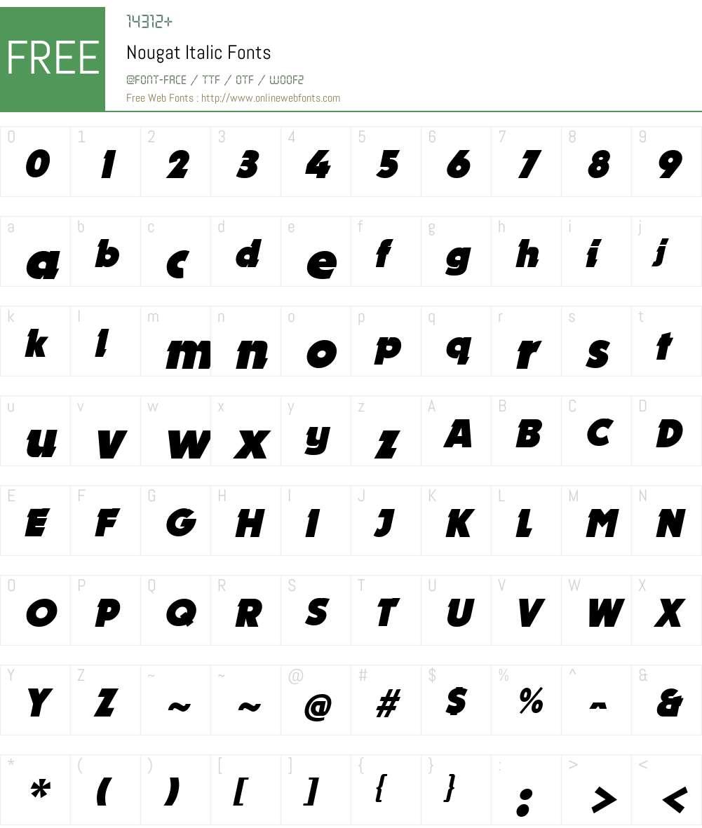 Nougat Font Screenshots