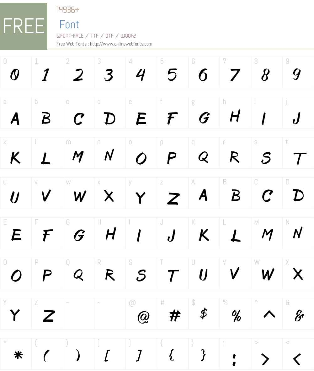 Bruss Font Screenshots