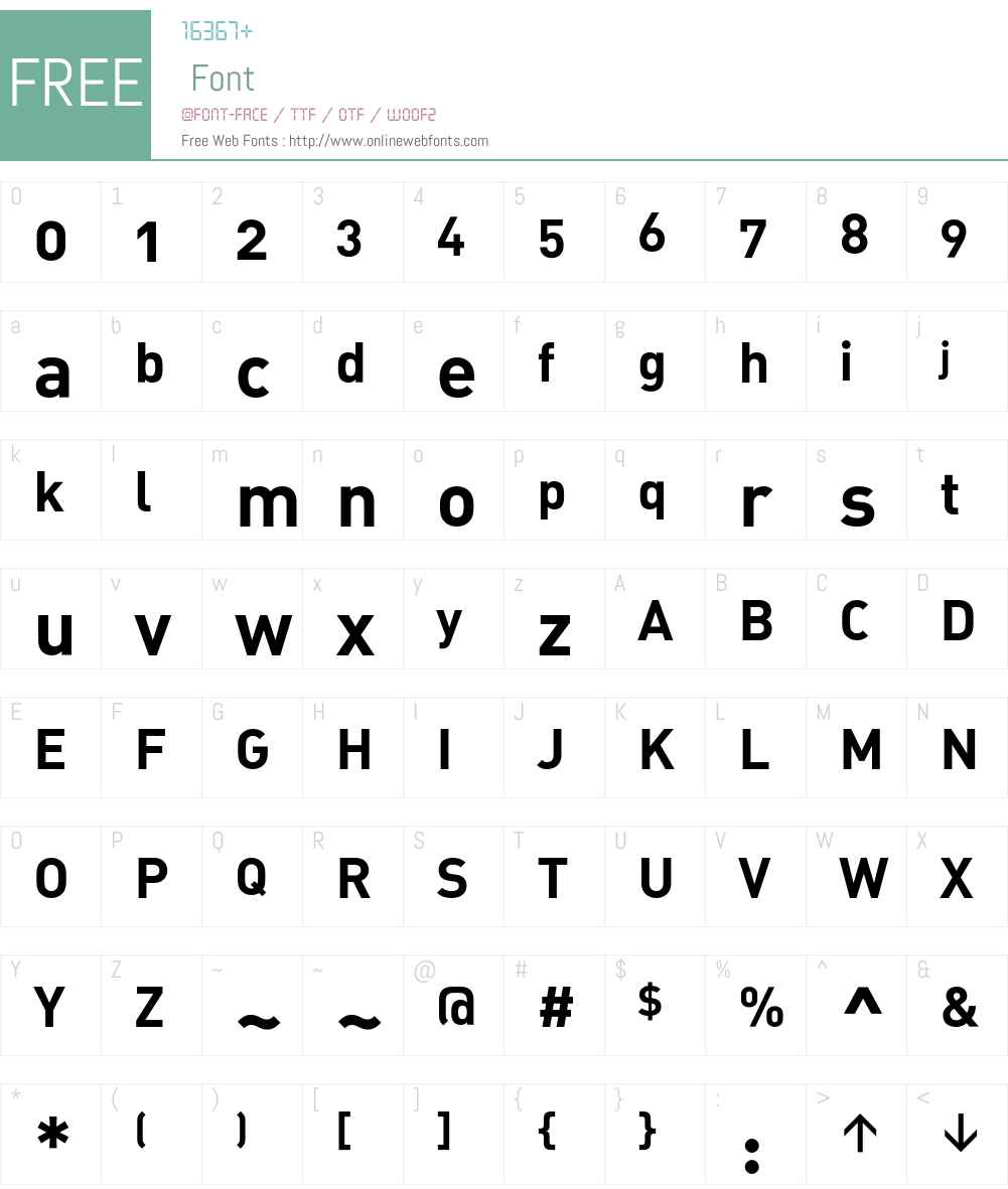 DIN Font Screenshots