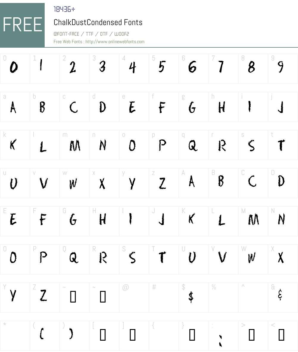 ChalkDustCondensed Font Screenshots