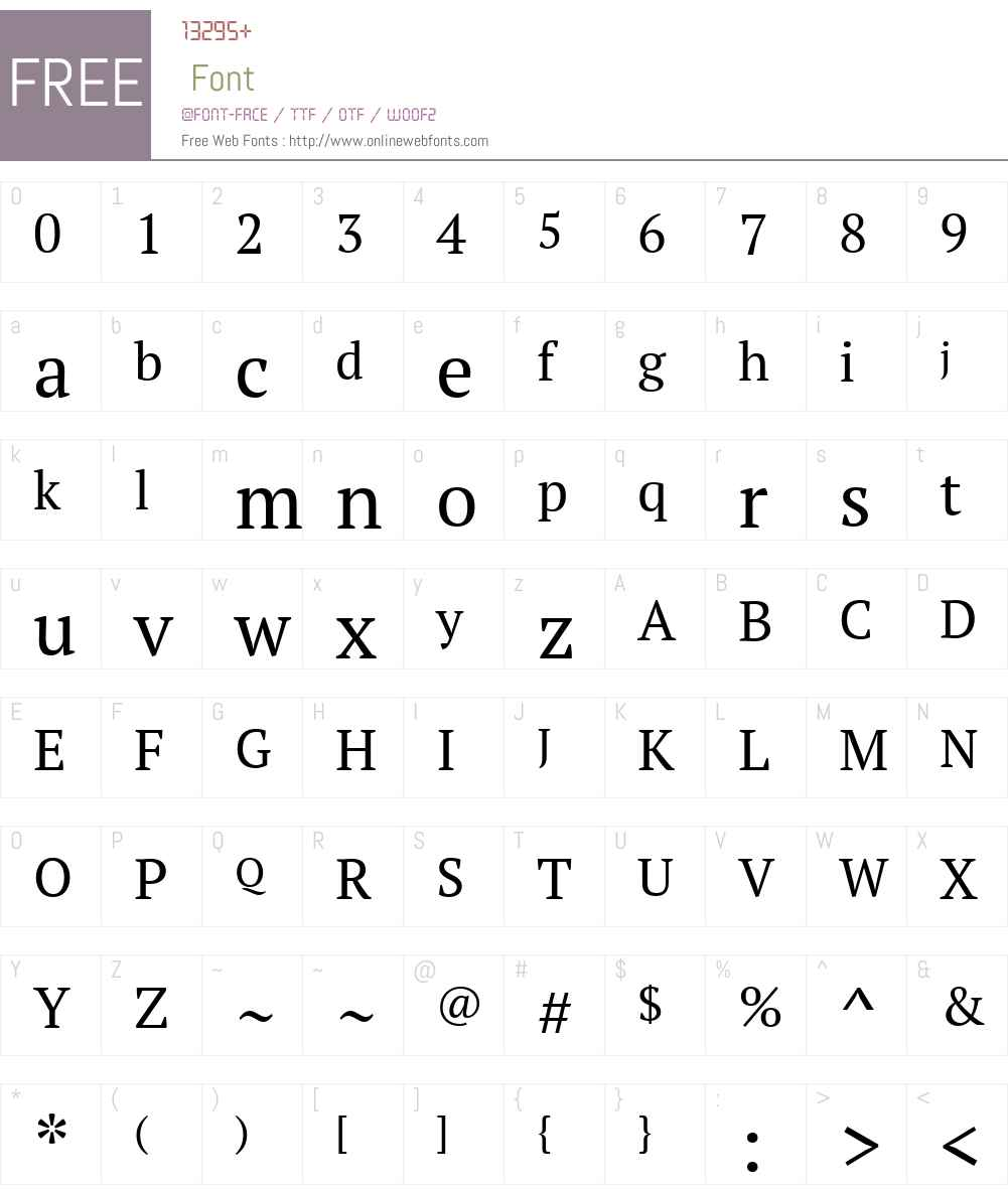 PT Serif Font Screenshots