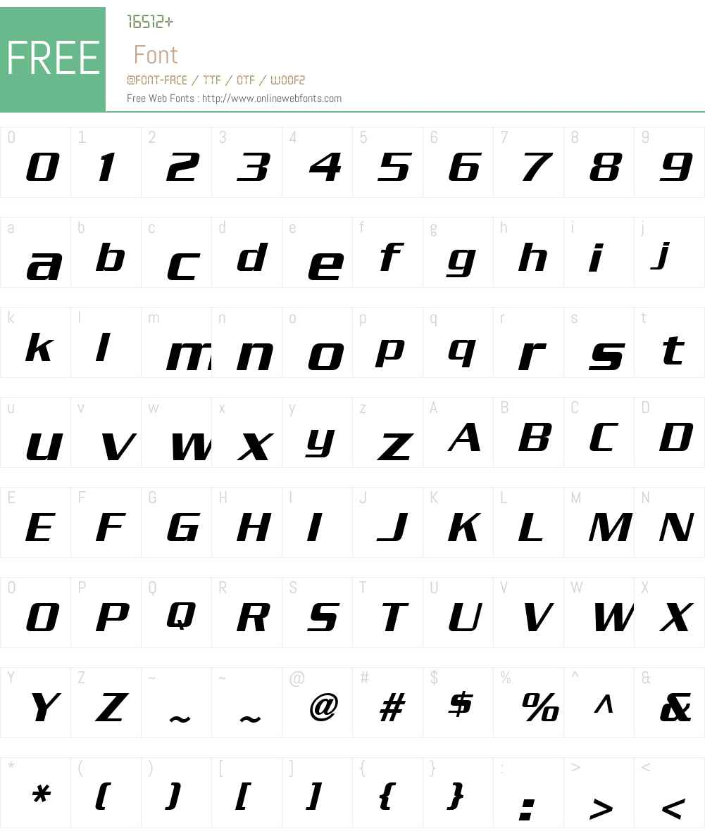 SerpentineSansW01-Oblique Font Screenshots