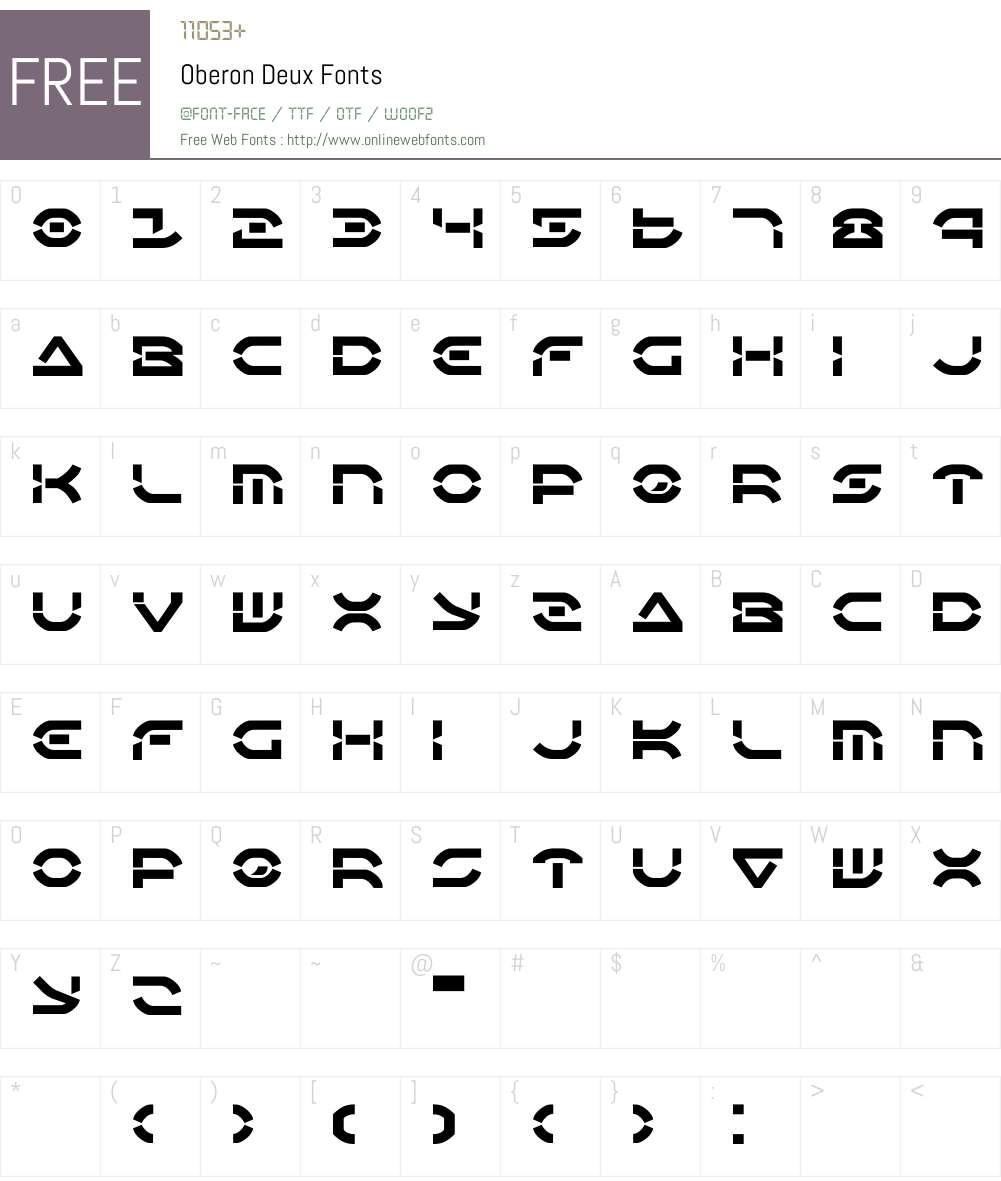 Oberon Deux Font Screenshots