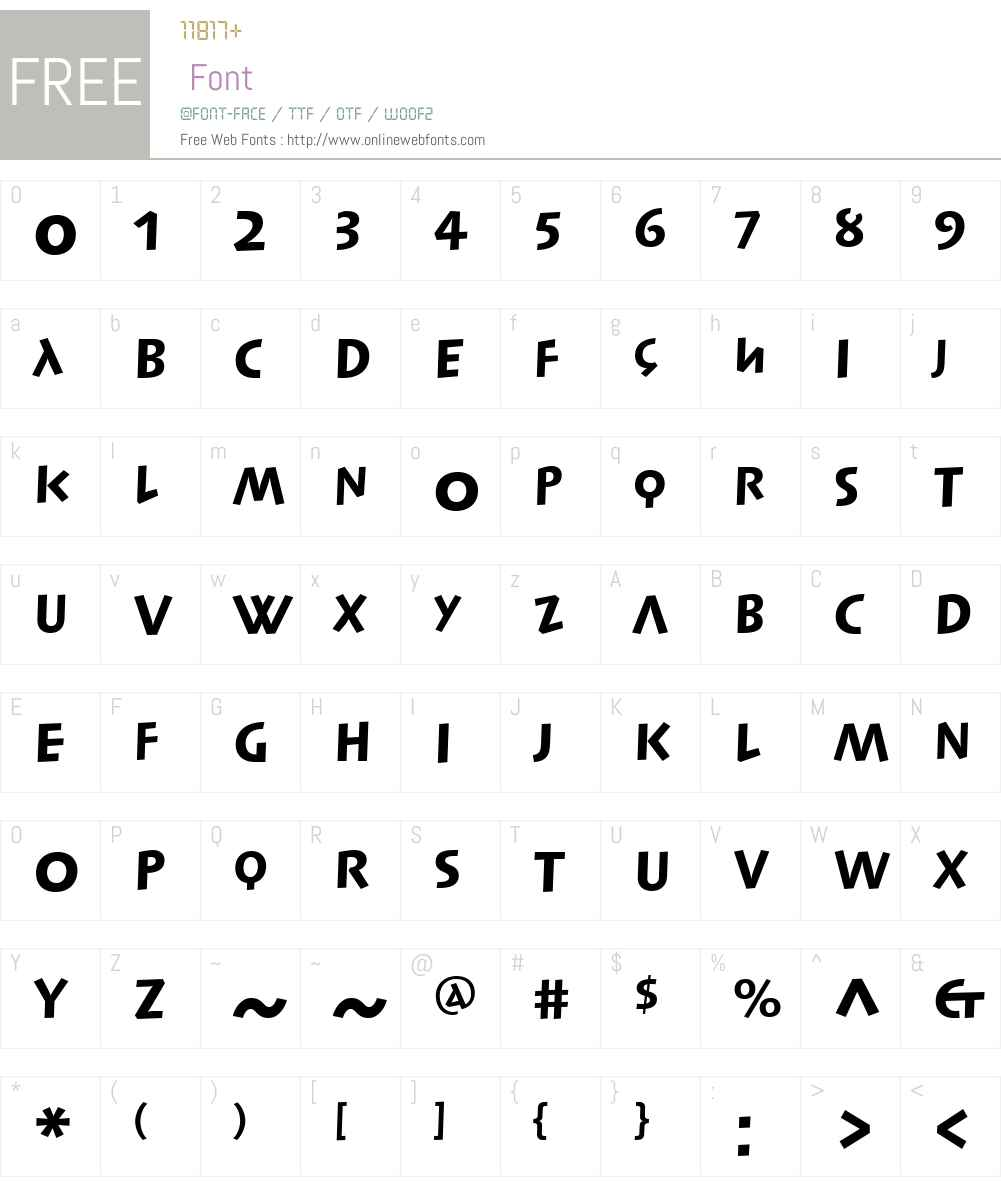 SyntaxLapidarDSLTW01-Hv Font Screenshots