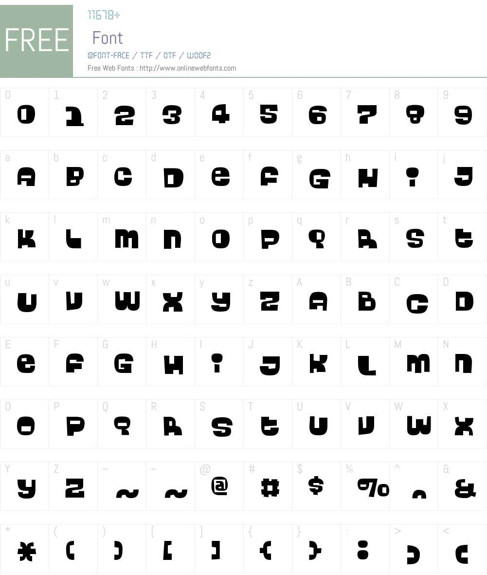 BingoW00-Regular Font Screenshots