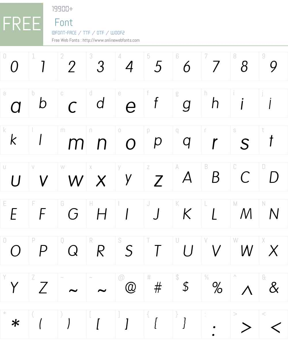 Volkswagen Font Screenshots