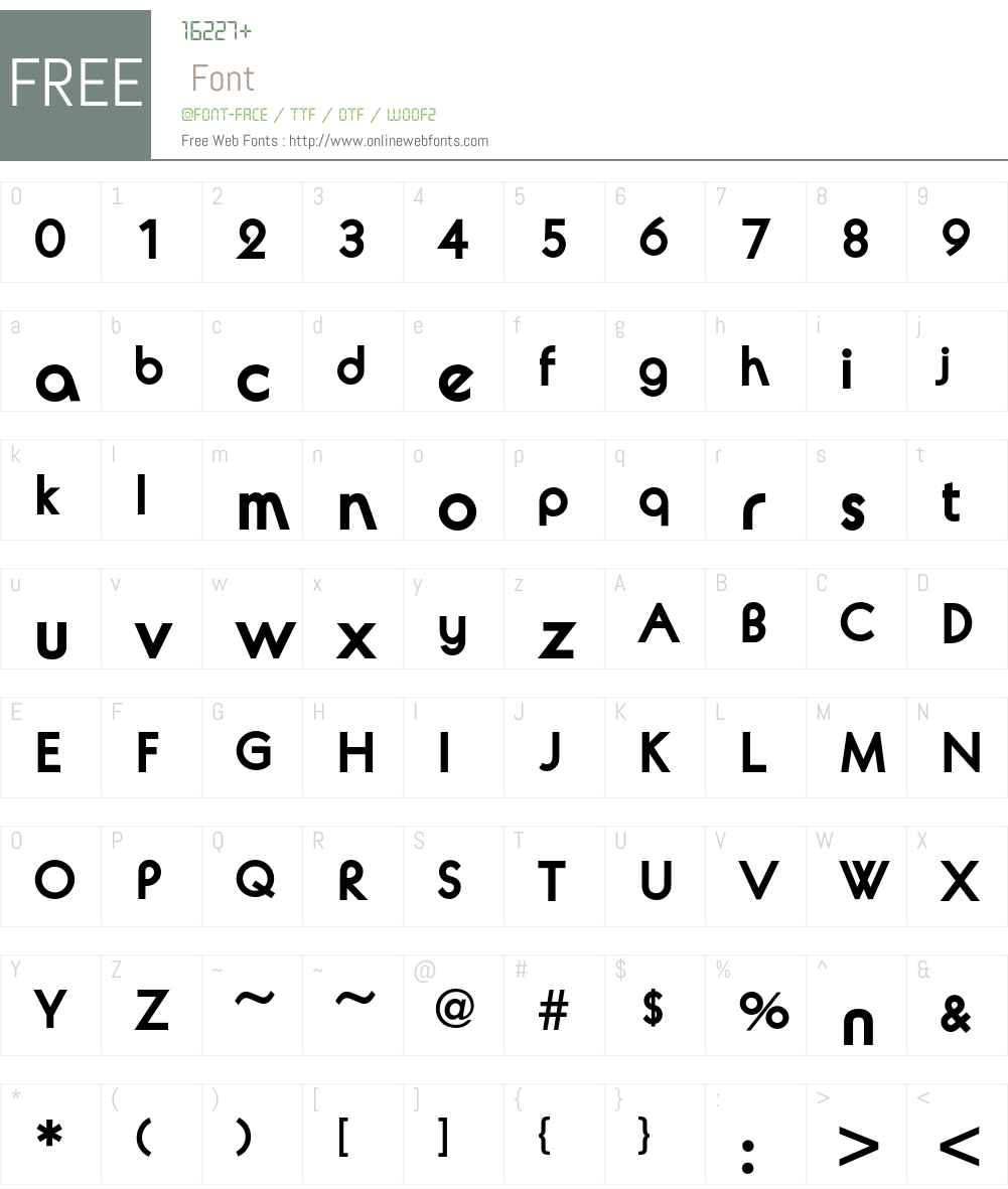Avalon Font Screenshots