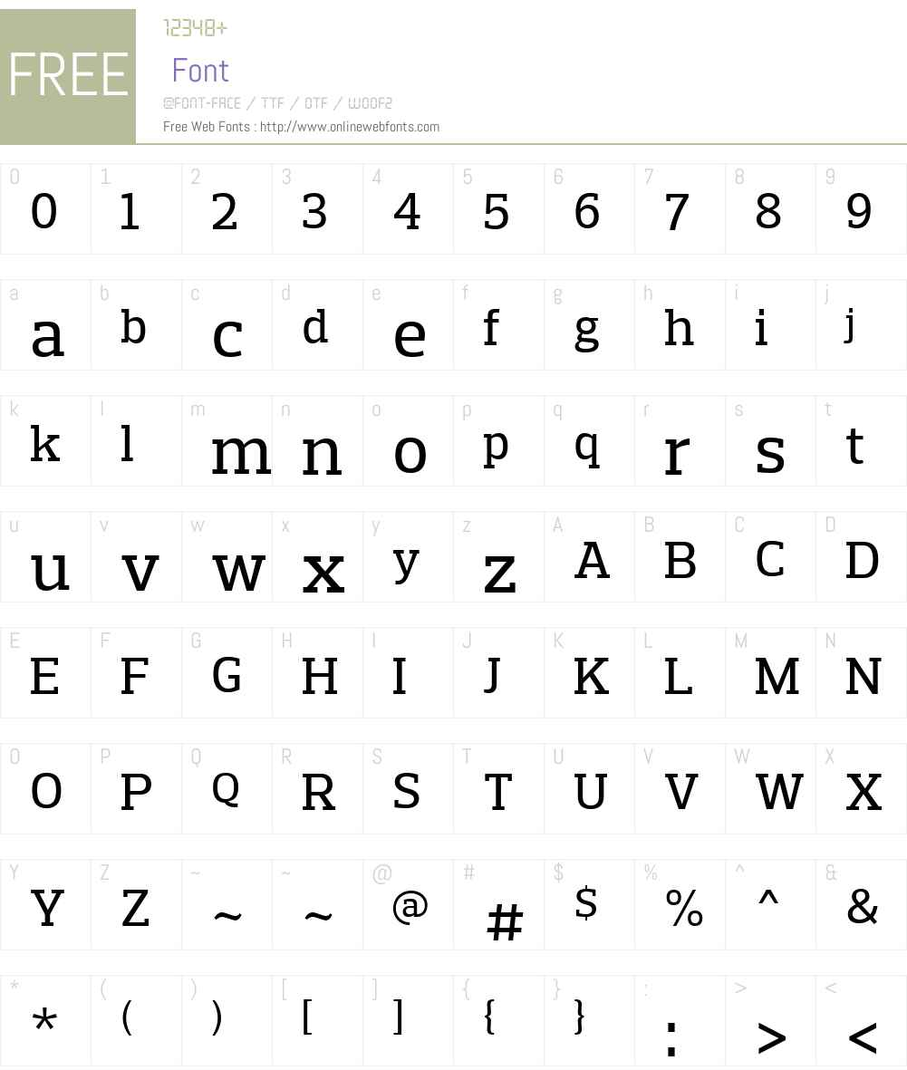 PreloSlabW01-Medium Font Screenshots