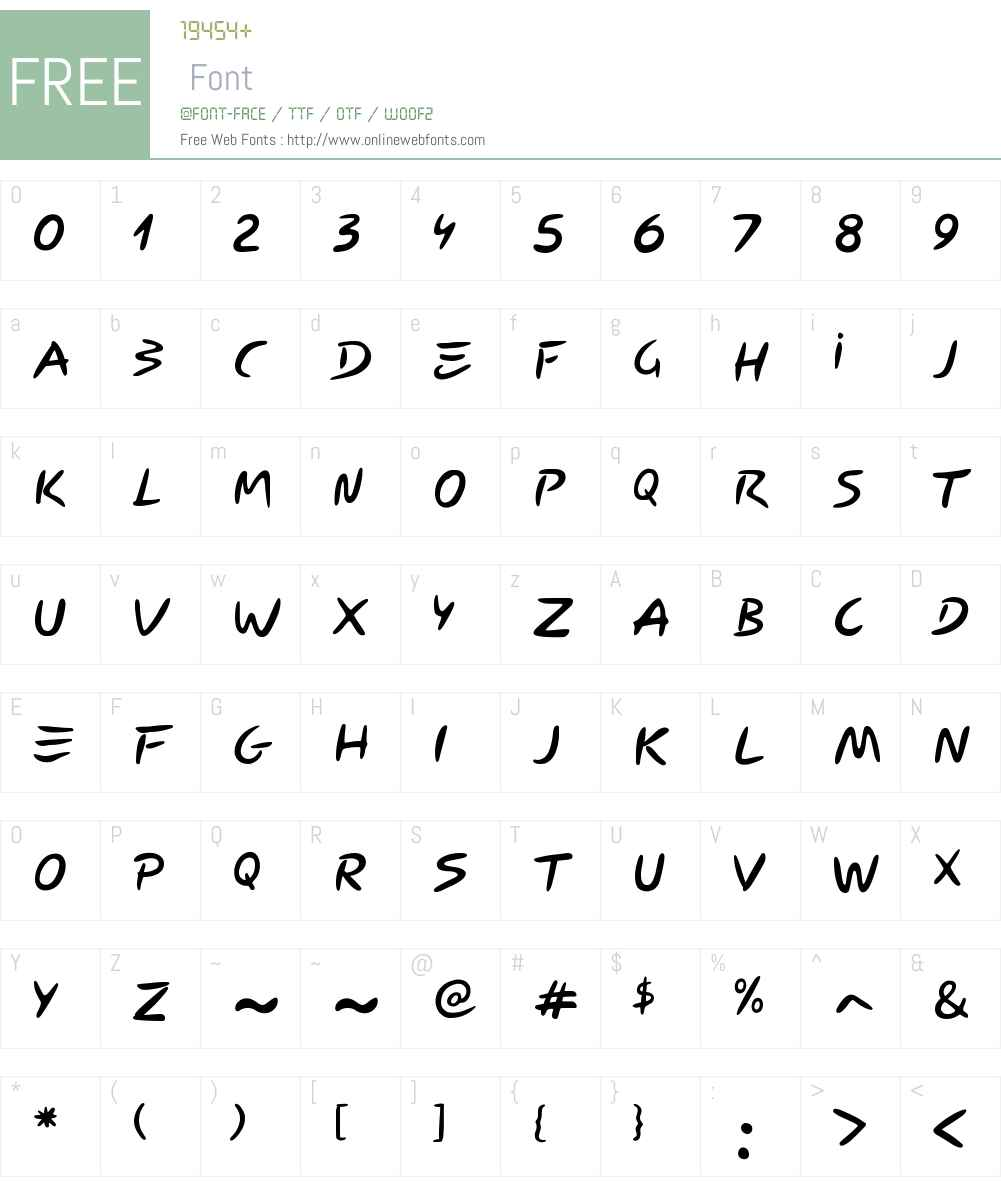Carybe Font Screenshots