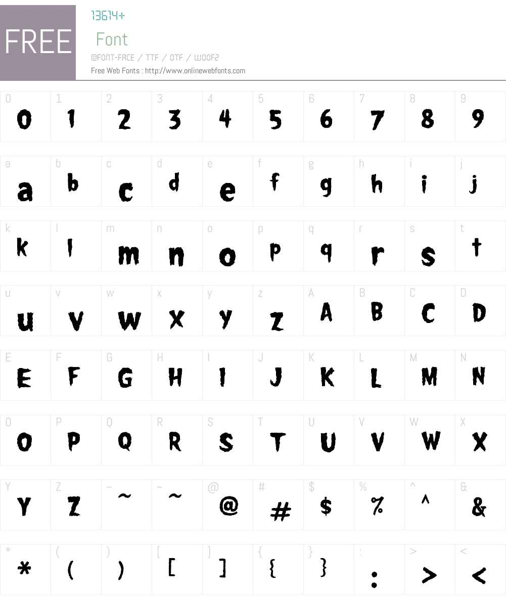 MonsterFonts-Spookhouse Font Screenshots