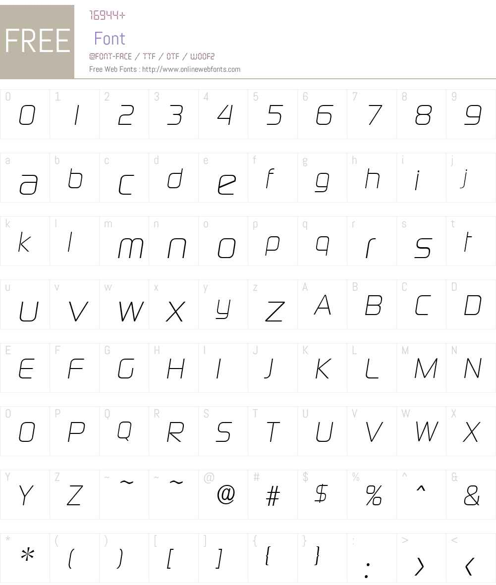 DigitalSerial Font Screenshots