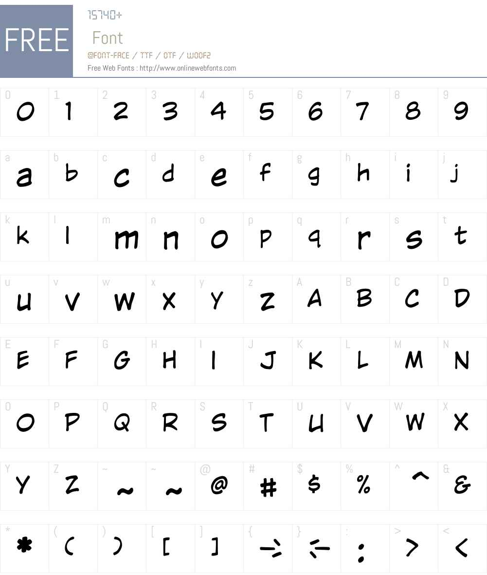 CCWildWordsLower-Regular Font Screenshots