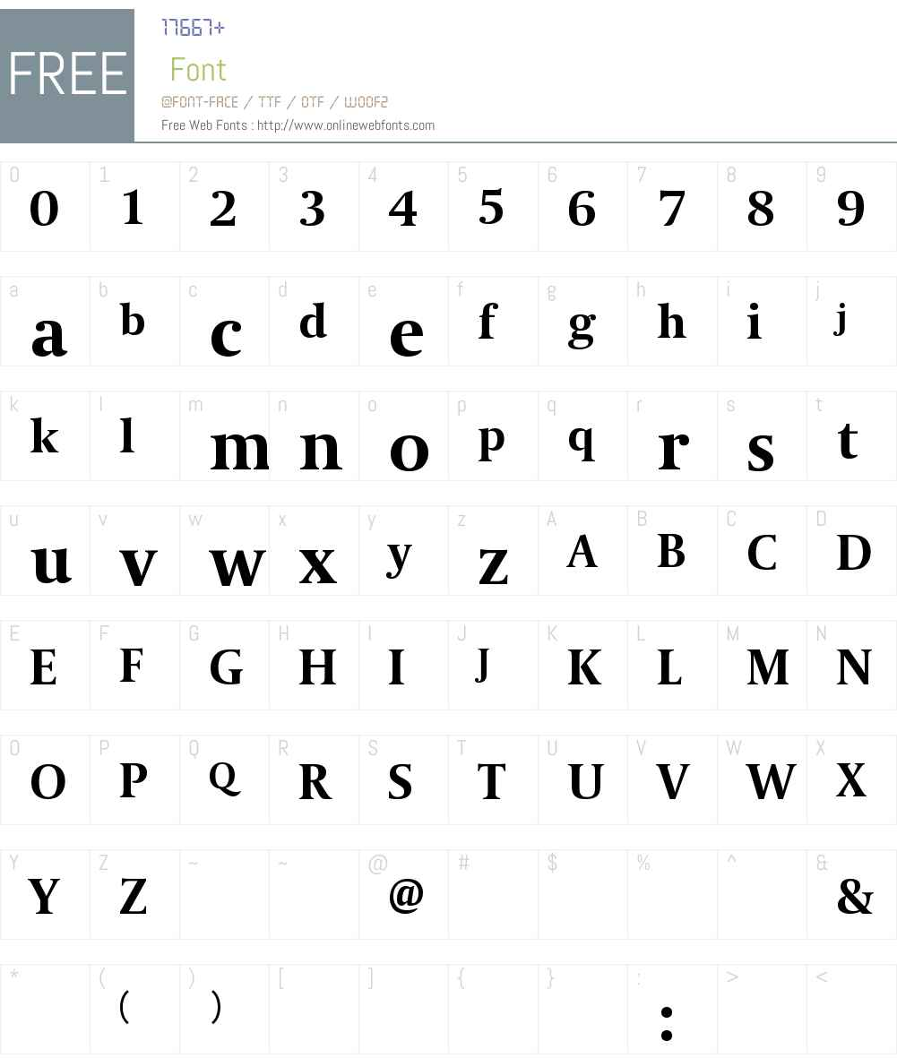 Coranto Font Screenshots