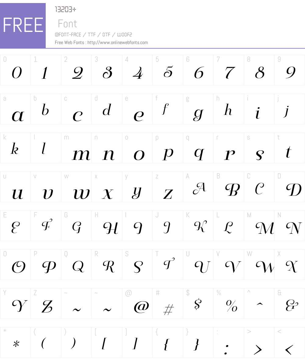 PaulineDidoneW01-RegularIt Font Screenshots