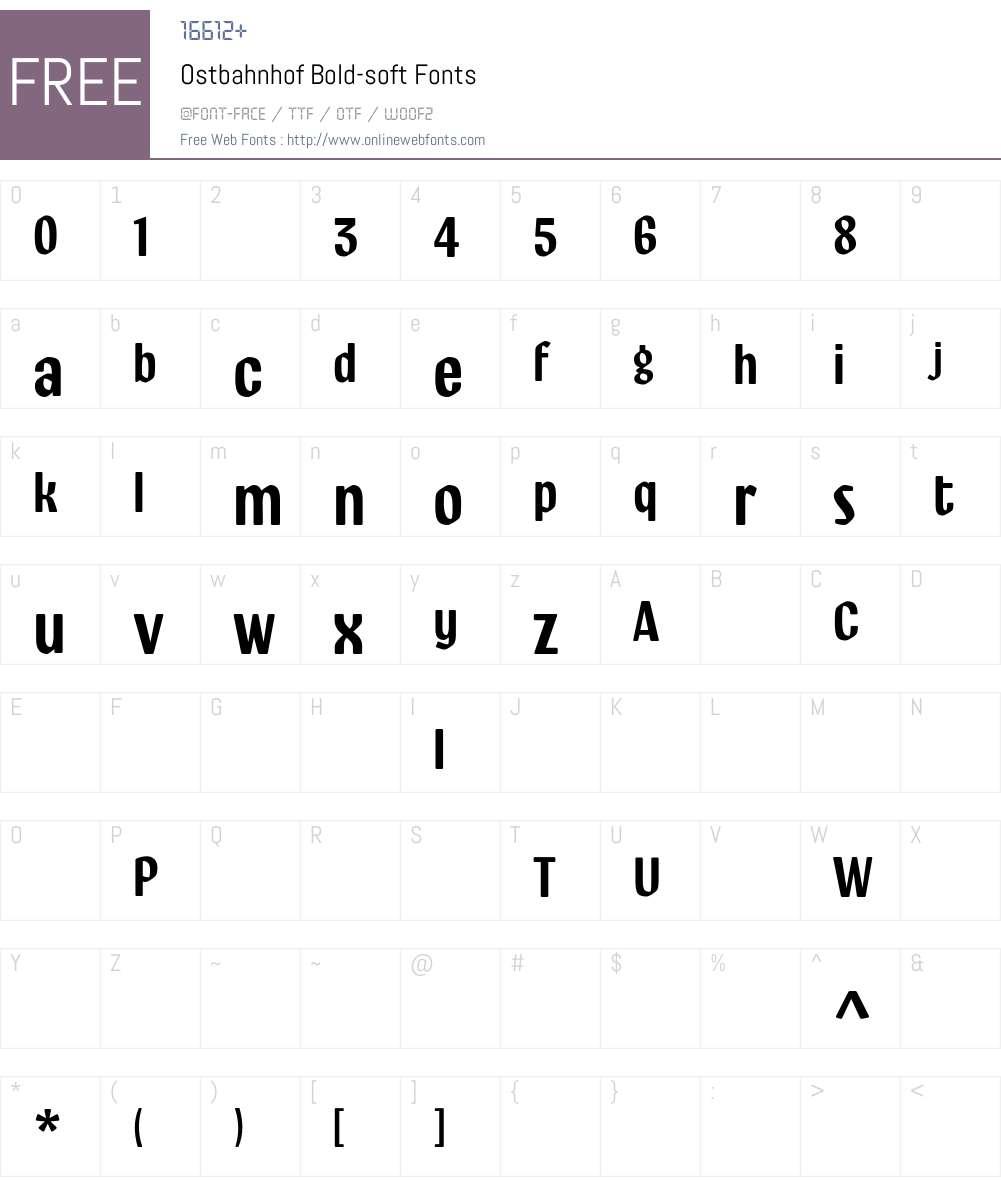 Ostbahnhof-Bold-soft Font Screenshots