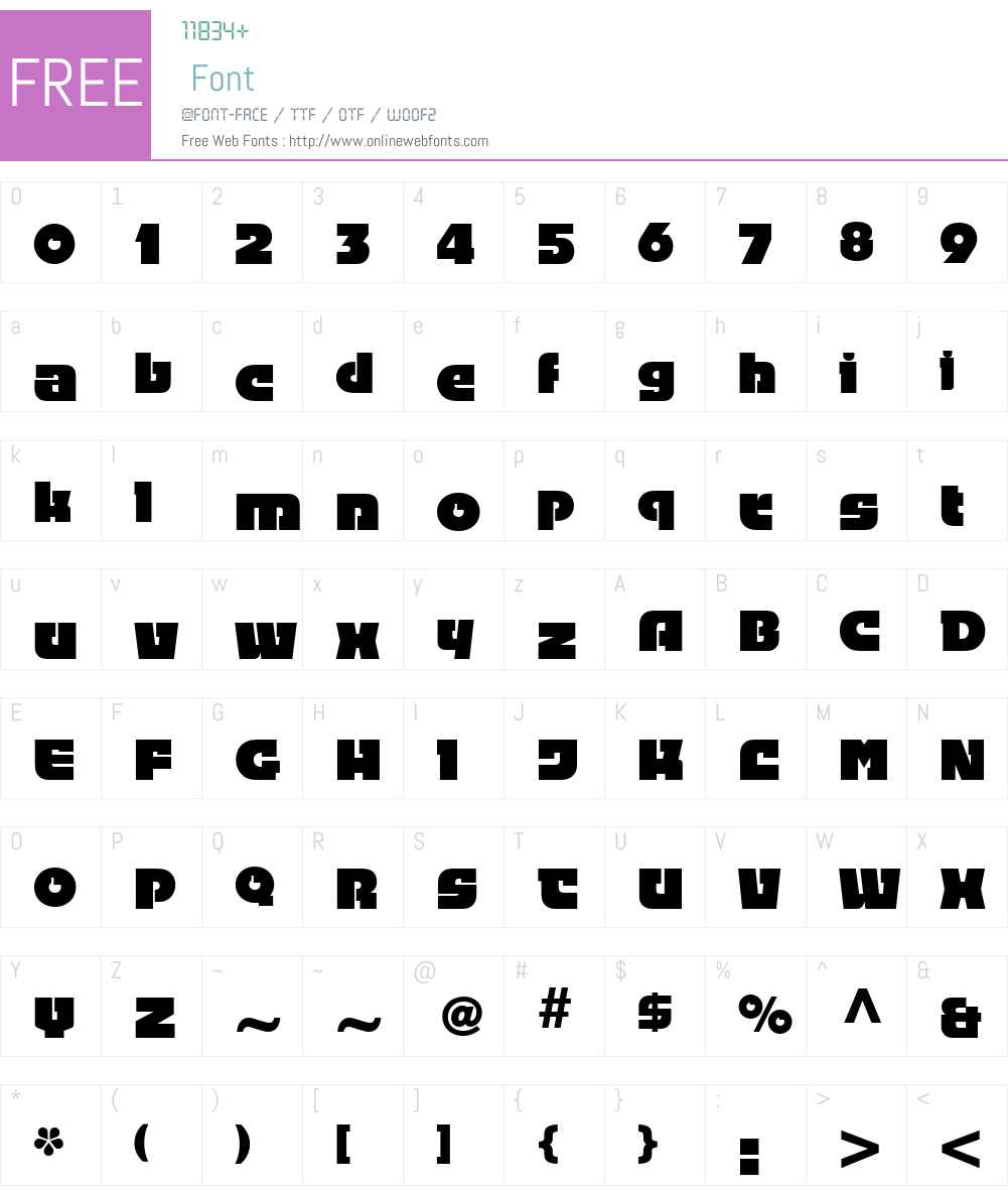 Linotype Fehrle Display Font Screenshots