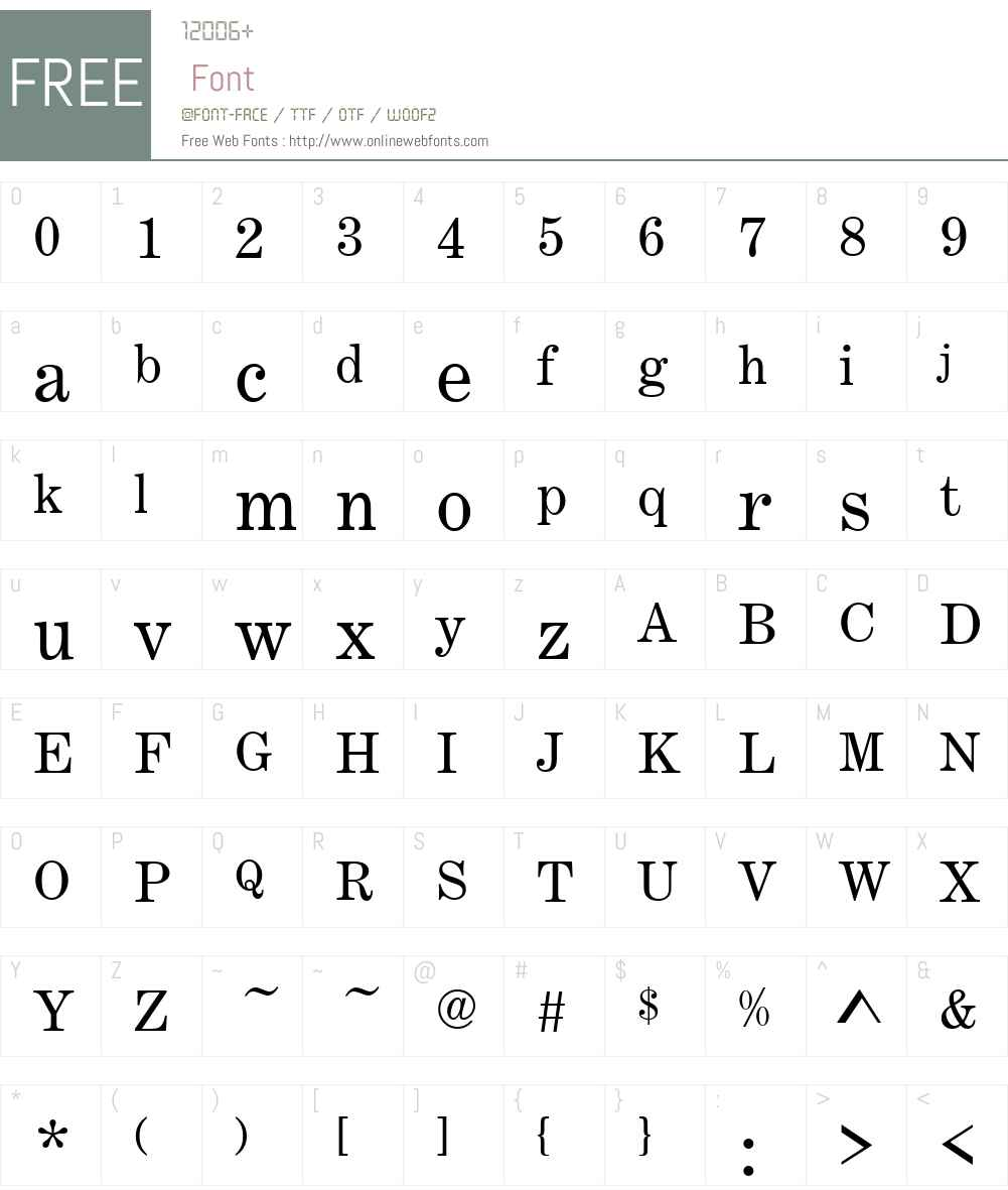 Century-Expanded Font Screenshots