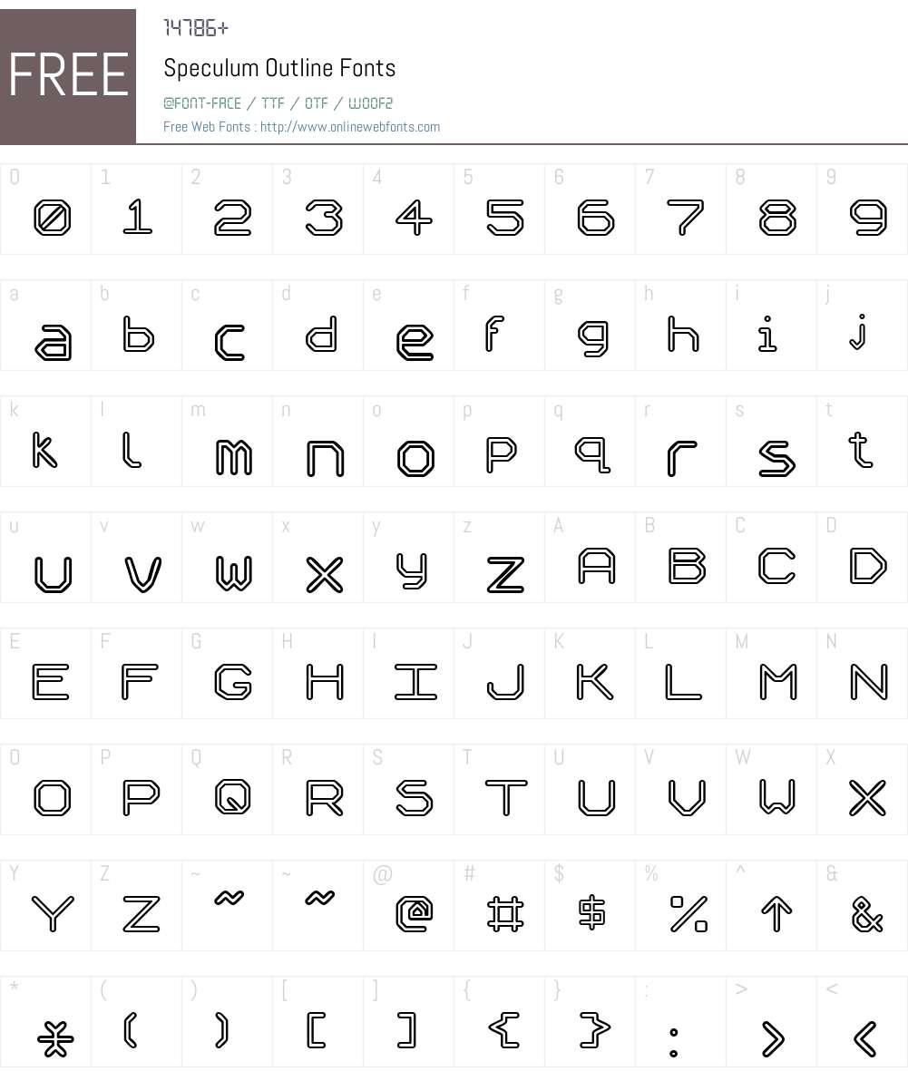 Speculum Outline Font Screenshots