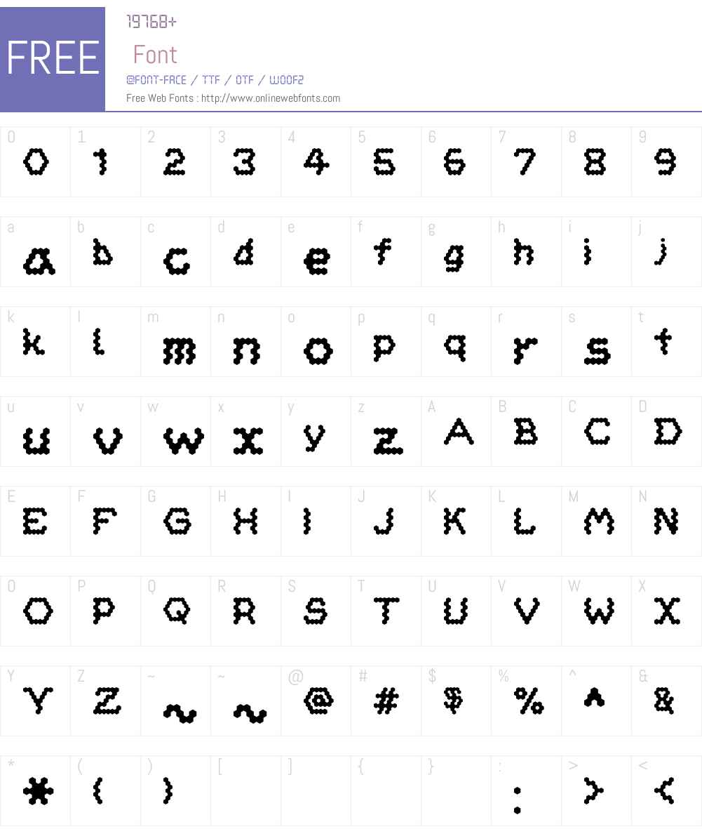 HoneycombSol Font Screenshots